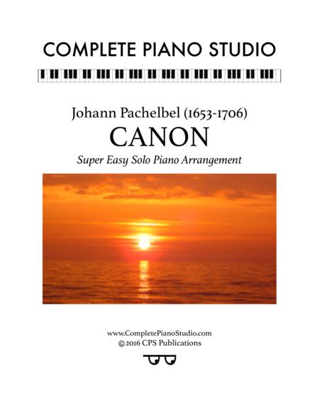 Pachelbel's Canon (Super easy solo piano arr.)