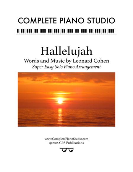 Hallelujah (Super easy solo piano arr.)
