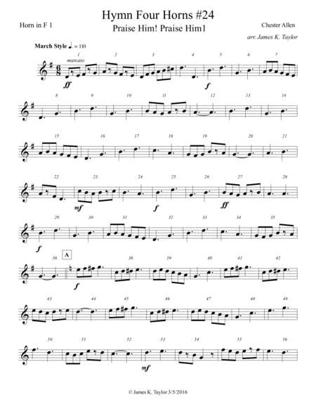 PRAISE HIM, PRAISE HIM (Horn Quartet #24)