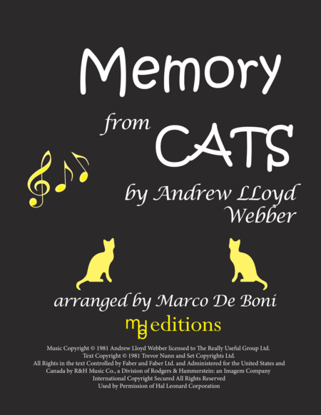 Memory (Memories) from Cats (Easy Piano)