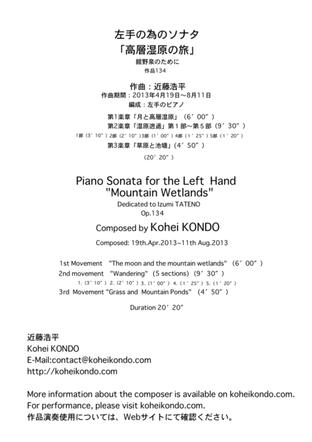 Piano Sonata for the Left  Hand