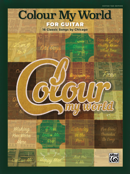 Classic Book Cover Guitar : Colour my world for guitar classic songs by chicago