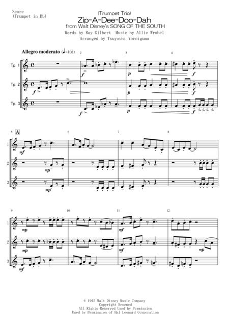 (Trumpet Trio) Zip-A-Dee-Doo-Dah