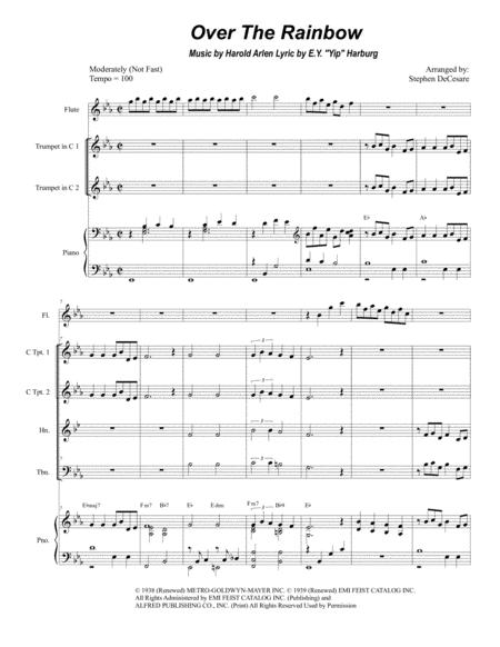 Over The Rainbow (for Brass Quartet)