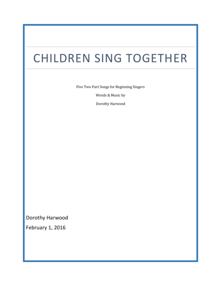 Children Sing Together