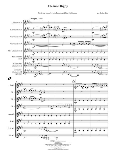Eleanor Rigby (Clarinet Choir)