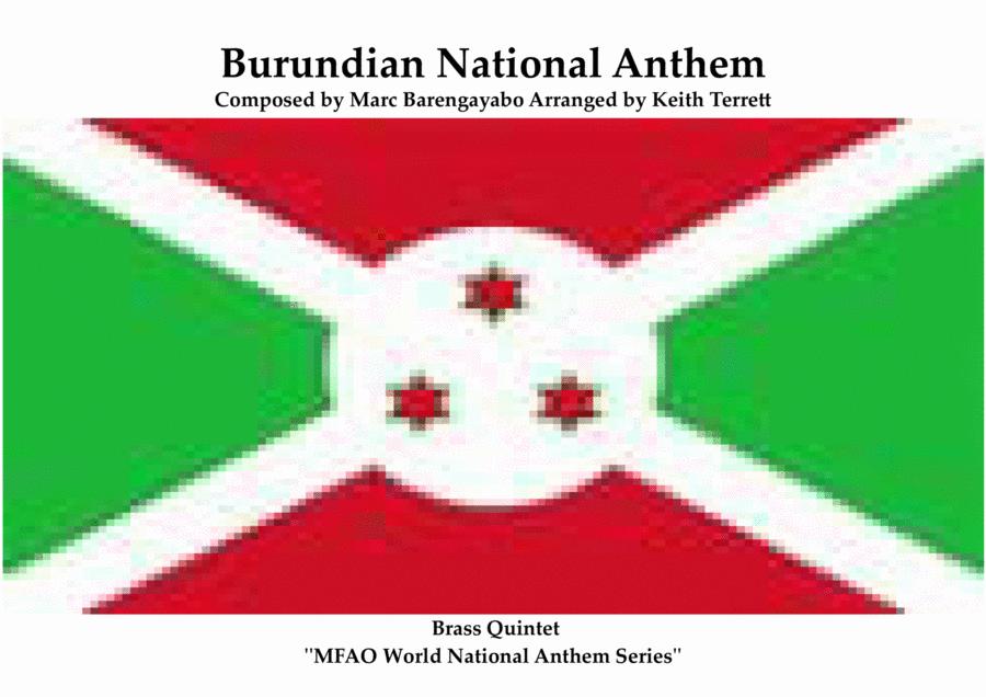 Burundian National Anthem Burundi Bwacu (Our Burundi) for Brass Quintet