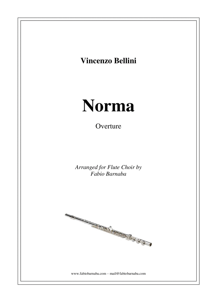Norma by Vincenzo Bellini - Overture for Flute Choir