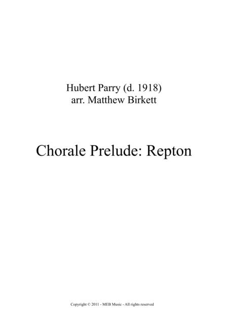 Chorale Prelude: Repton
