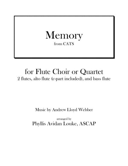 Memory from CATS for Flute Choir or Quartet