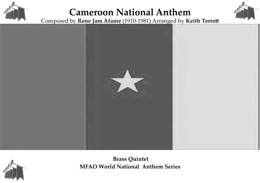 Cameroon National Anthem (O Cameroon, Cradle of our Forefathers) for Brass Quintet