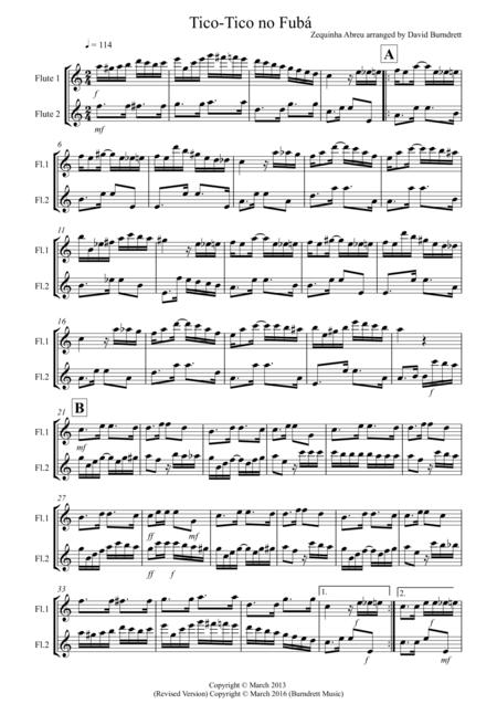 Tico Tico for Flute Duet