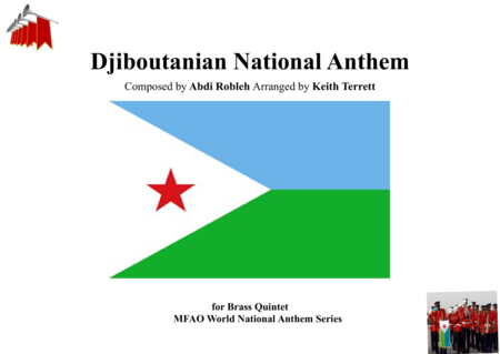 Djiboutanian National Anthem for Brass Quintet