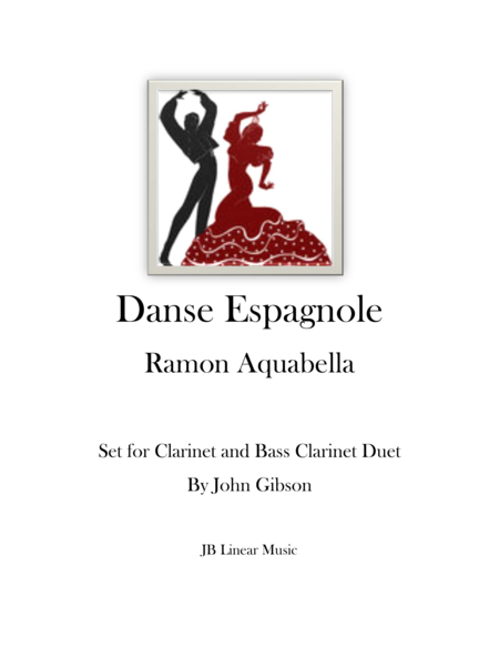 Danse Espanole for clarinet and bass clarinet duet