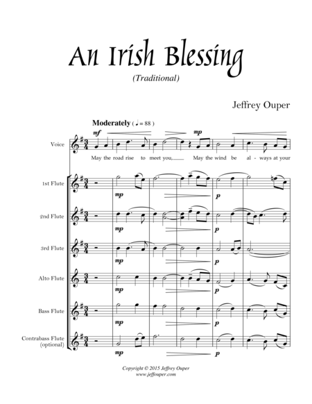 An Irish Blessing (for flute choir & voice)
