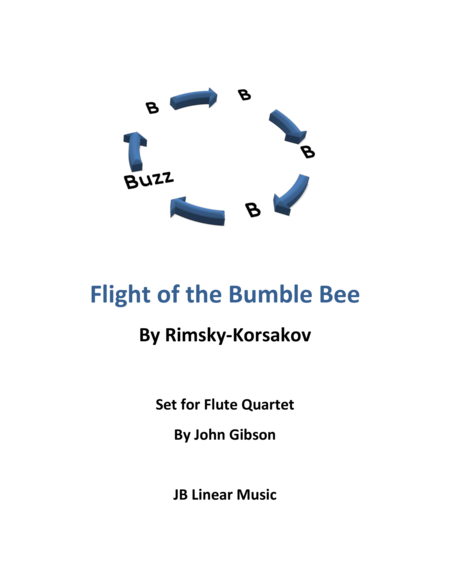 Flight of the Bumble Bee for flute quartet