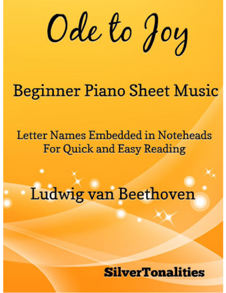 Ode to Joy Beginner Piano Sheet Music