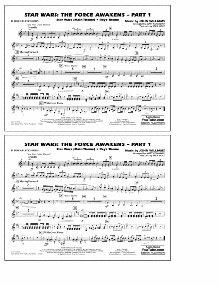 Star Wars: The Force Awakens - Part 1 - Bb Horn/Flugelhorn