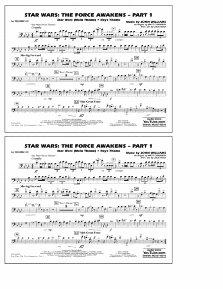 Star Wars: The Force Awakens - Part 1 - 1st Trombone