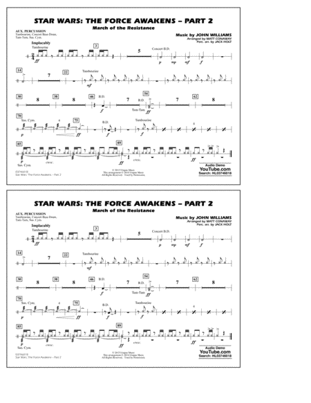 Star Wars: The Force Awakens - Part 2 - Aux Percussion