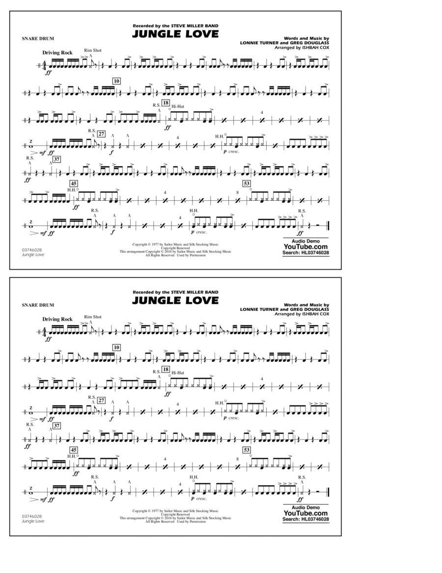 Jungle Love - Snare Drum