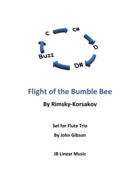 Flight of the Bumble Bee for flute trio