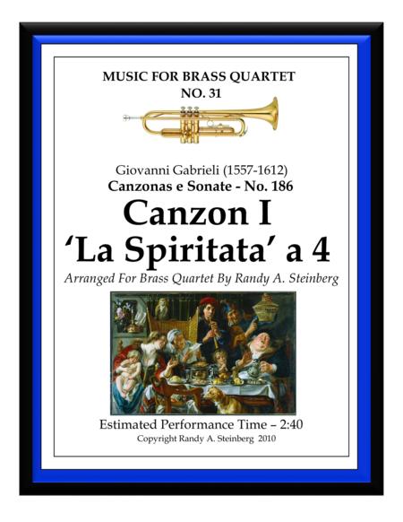 Canzon I La Spiritata a 4 - No. 186