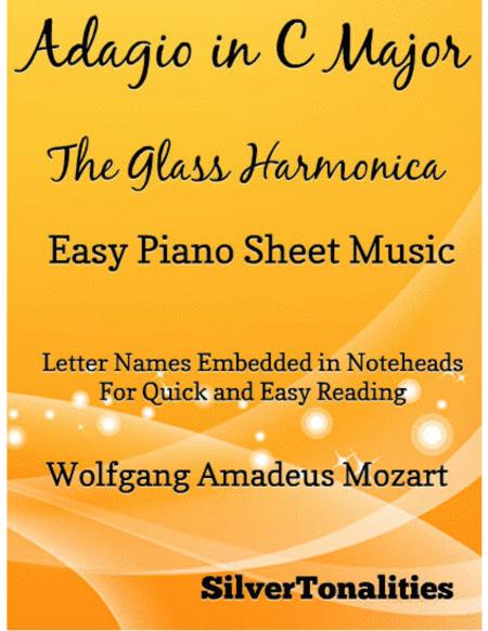 Adagio in C Major Glass Harmonica Easy Piano Sheet Music