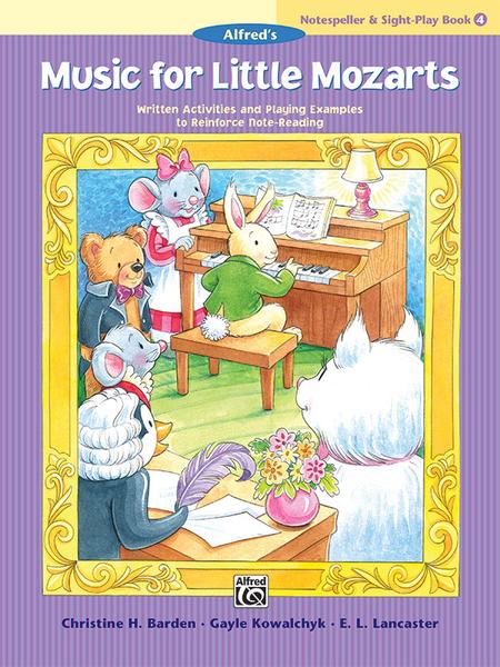 Music for Little Mozarts Notespeller & Sight-Play Book, Book 4