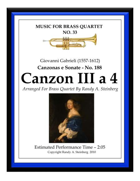 Canzon III a 4 - No. 188