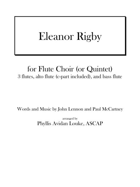 Eleanor Rigby by Lennon & McCartney for Flute Choir or Quintet