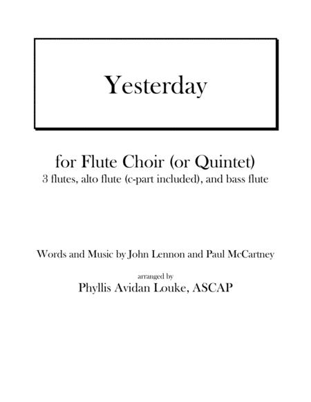 Yesterday by Lennon & McCartney for Flute Choir or