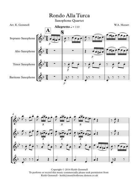 Rondo Alla Turca: Saxophone Quartet