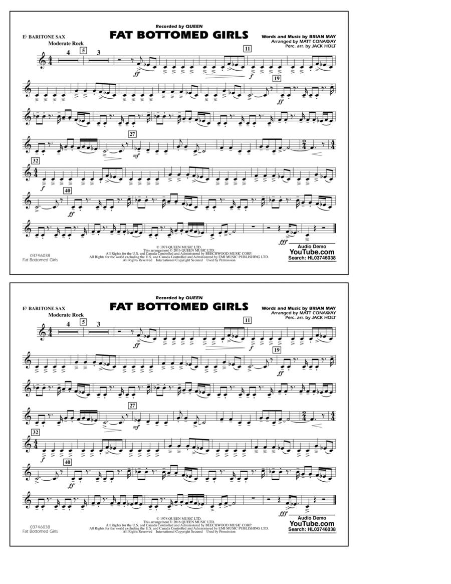 Fat Bottomed Girls - Eb Baritone Sax
