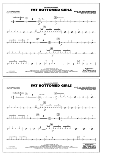 Fat Bottomed Girls - Aux Percussion