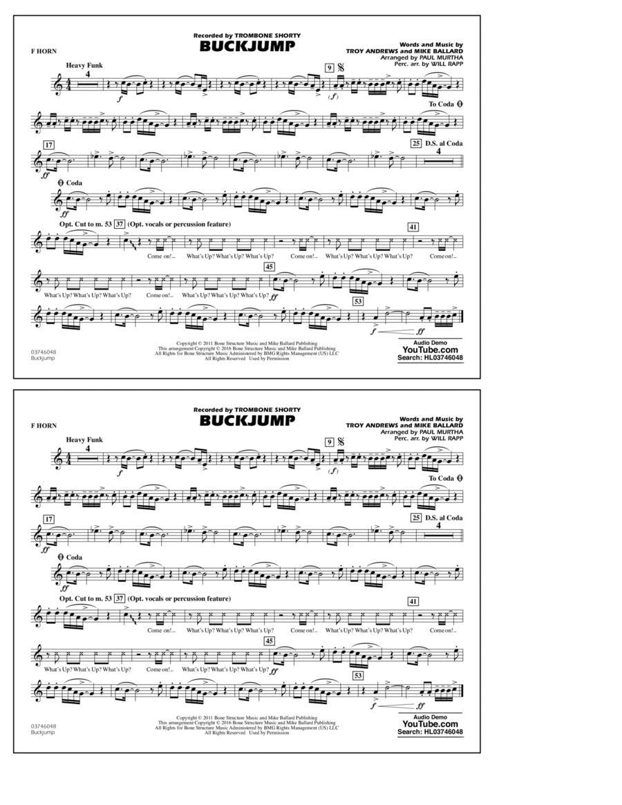 Buckjump - F Horn