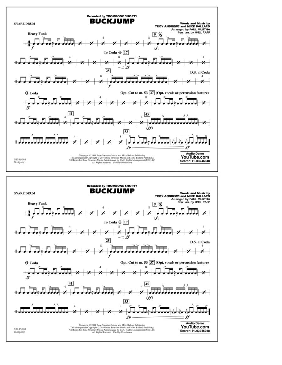 Buckjump - Snare Drum