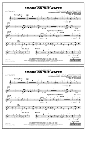 Smoke on the Water - 3rd Bb Trumpet