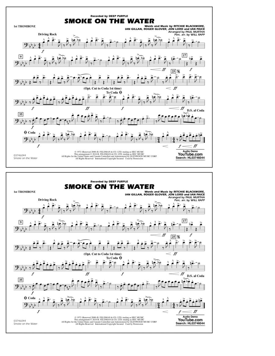 Smoke on the Water - 1st Trombone