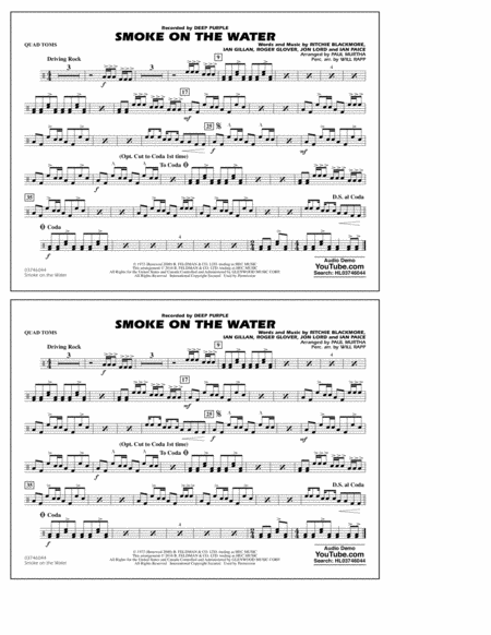 Smoke on the Water - Quad Toms