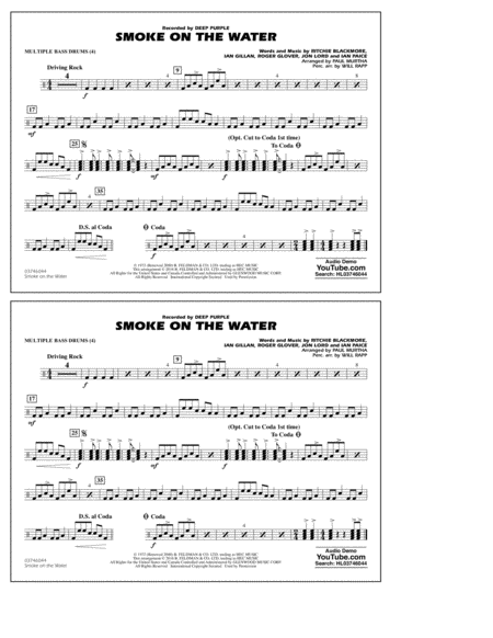 Smoke on the Water - Multiple Bass Drums