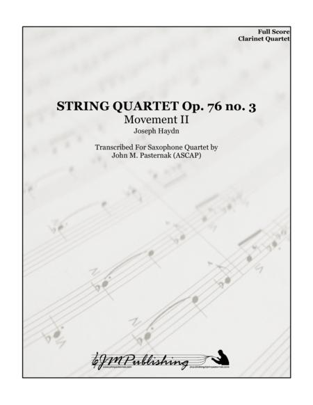 String Quartet Op. 76 No.3 Mvt 2