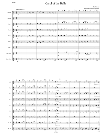 Carol of the Bells (for Flute Choir)