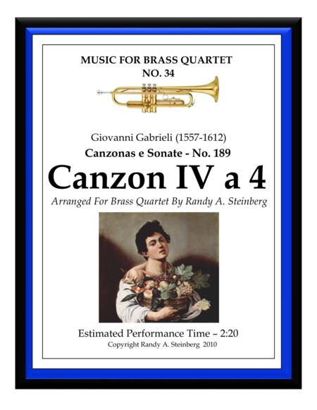 Canzon IV a 4 - No. 189
