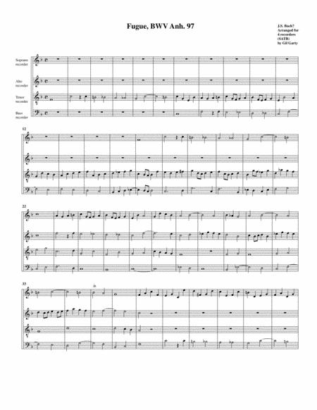 Fugue, BWV Anh. 97