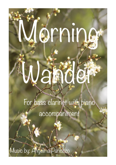 Morning Wander for solo bass clarinet and piano