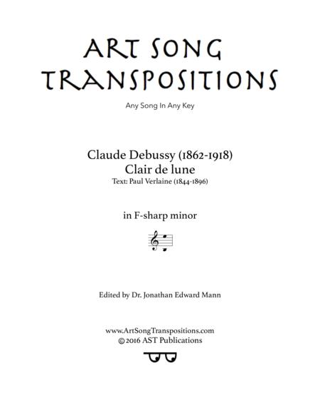 Clair de lune (F-sharp minor)