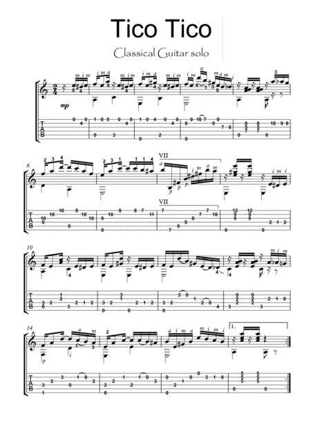 Tico Tico classical guitar solo