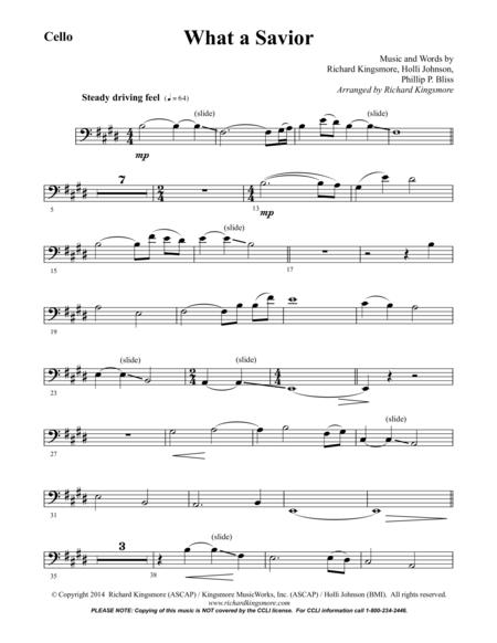 What a Savior (Cello)