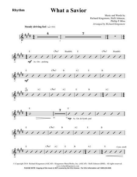 What a Savior (Rhythm)